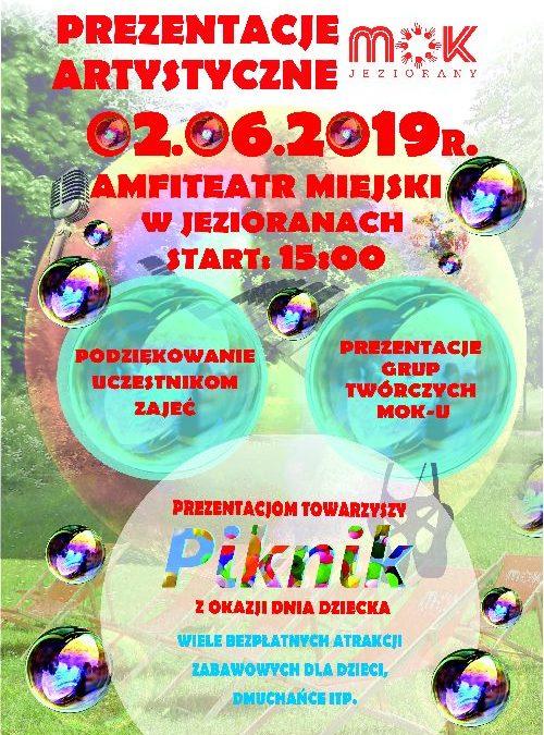 PREZENTACJE ARTYSTYCZNE GRUP TWÓRCZYCH MOK 02.06.2019