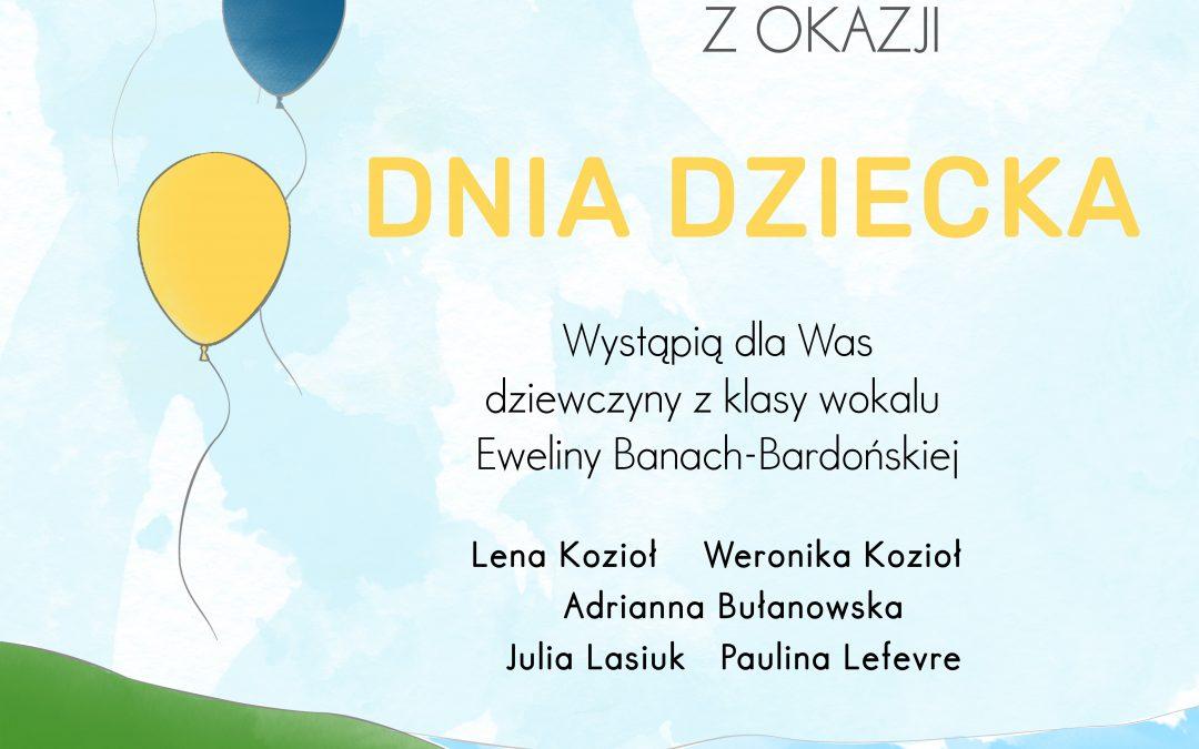 Koncert on-line z okazji Dnia Dziecka w wykonaniu uczestniczek zajęć wokalnych MOK Jeziorany – 1 czerwca, godz. 12.00.