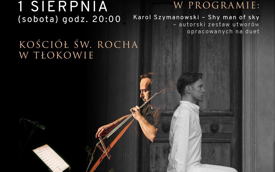 """Koncert muzyki poważnej """"Dwóchgłos"""" – Bartek Wąsik i Michał Pepol, 1 sierpnia 2020 r., godz. 20.00"""