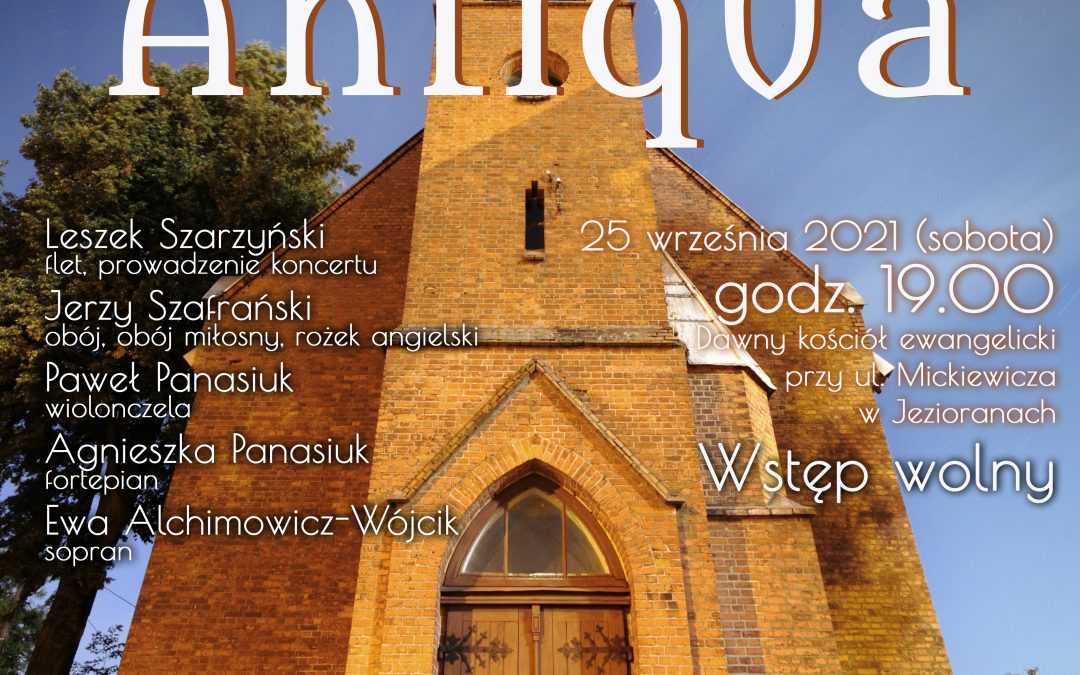 Koncert kameralny zespołu Pro Musica Antiqua – 25.09.2021