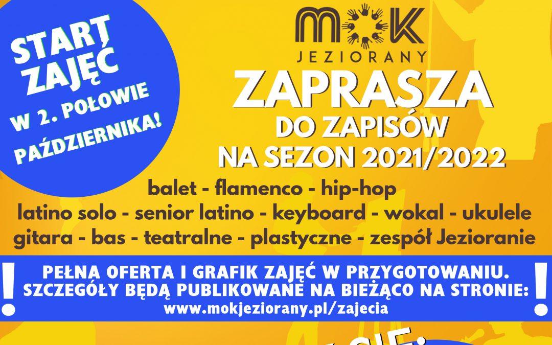 Ruszają zapisy na zajęcia w MOK Jeziorany – sezon 2021/2022